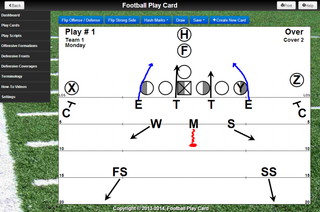 Added rush actions to defensive players Drag and move the defensive action lines