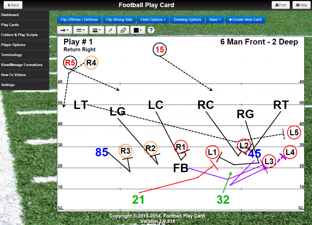 Create play cards for Special Teams (Kickoff, Kickoff Return, Punt, Punt Return, Field Goal, and Field Goal Block)