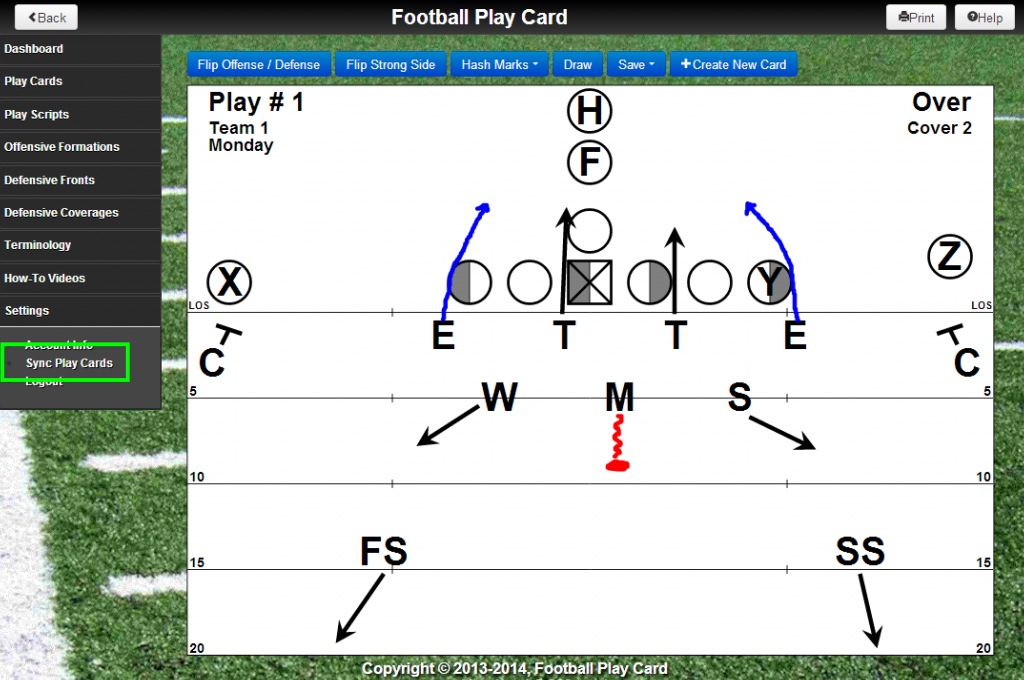 Take Football Play Card to the practice field with Offline Mode and share your play card binder with other coaches and/or players