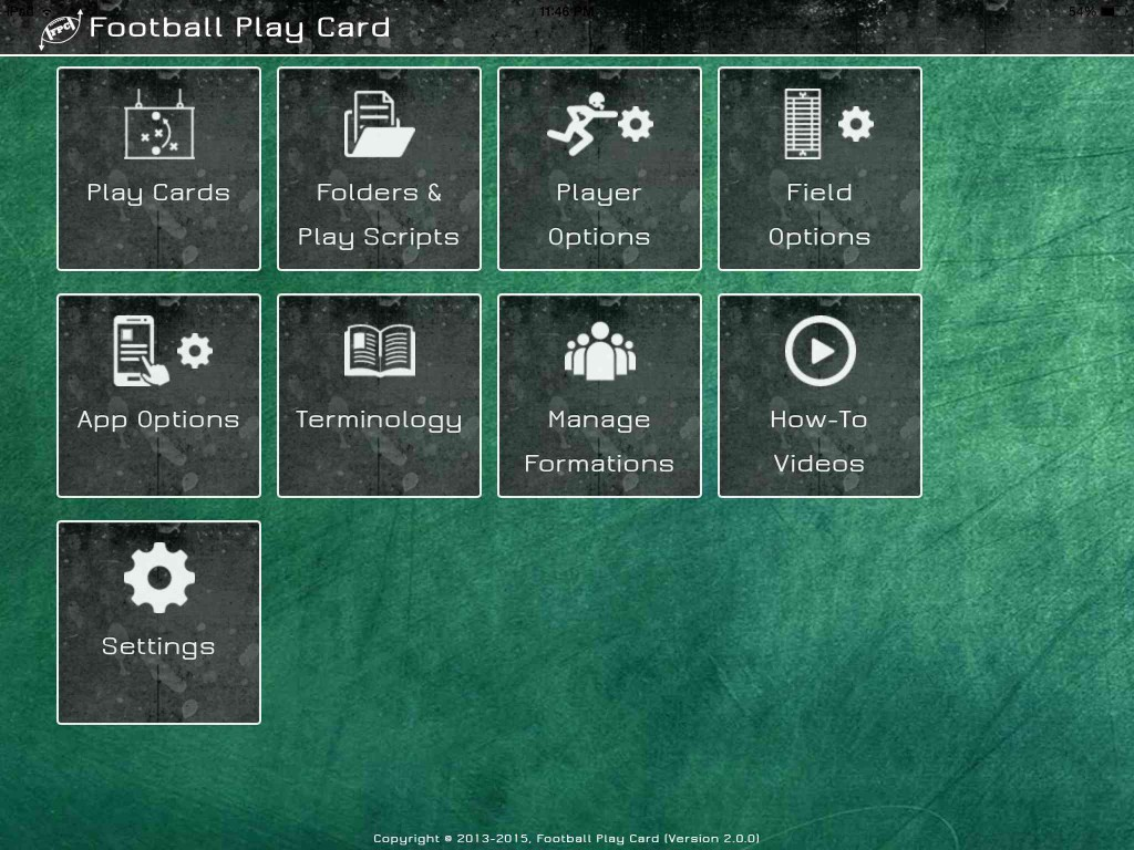 Football Play Card - Dashboard