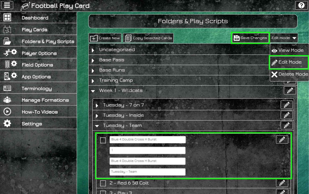 Copy, Edit, and Delete Play Cards and Enhanced Navigation