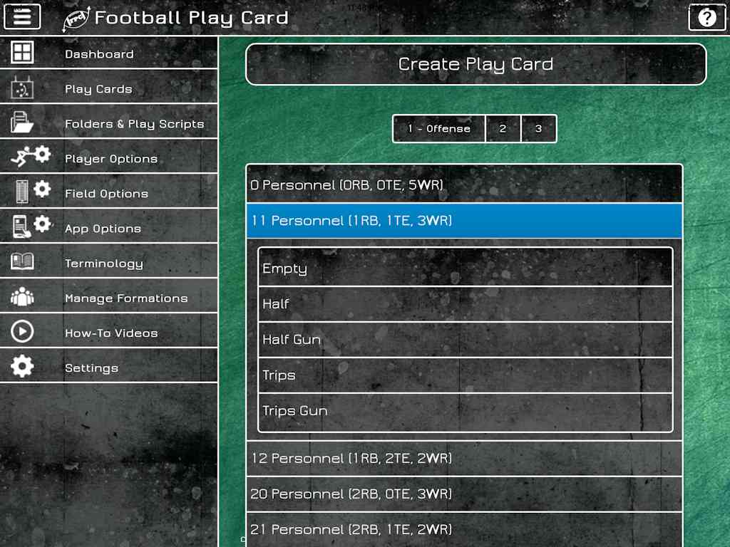 Football Play Card - Create Card
