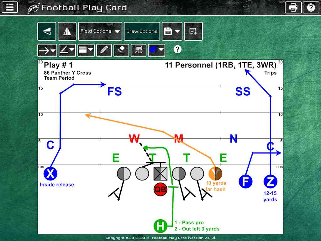 Football Play Card - Offense